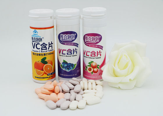 China Fruit Flavor Vitamin C Effervescent Tablets Dietary Fiber Supplements supplier